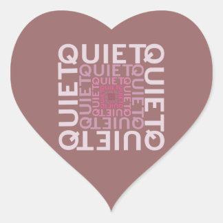 Quiet Pink Word Cloud Heart Sticker