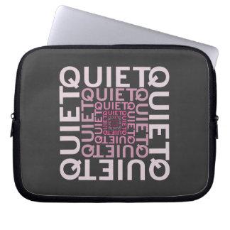 Quiet Pink Word Cloud Laptop Sleeve