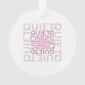 Quiet Pink Word Cloud Ornament