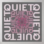 Quiet Pink Word Cloud Poster