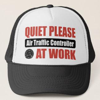 Quiet Please Air Traffic Controller At Work Trucker Hat