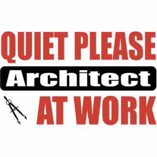 Quiet Please Architect At Work Photo Cut Out