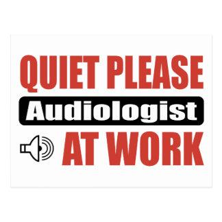 Quiet Please Audiologist At Work Postcard