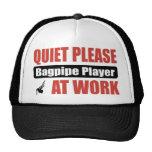 Quiet Please Bagpipe Player At Work Mesh Hats