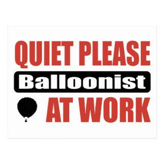 Quiet Please Balloonist At Work Postcard