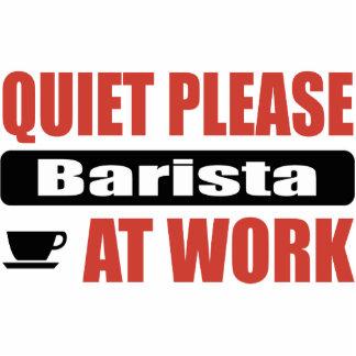 Quiet Please Barista At Work Photo Sculpture