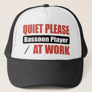 Quiet Please Bassoon Player At Work Trucker Hat