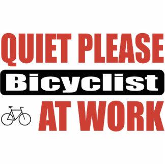 Quiet Please Bicyclist At Work Photo Sculptures