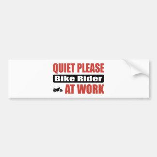 Quiet Please Bike Rider At Work Car Bumper Sticker