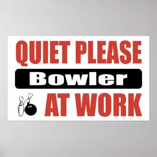 Quiet Please Bowler At Work Print