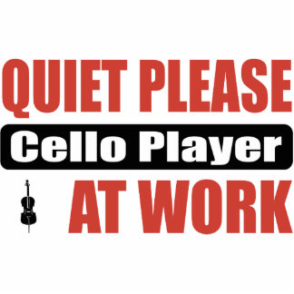 Quiet Please Cello Player At Work Cut Outs