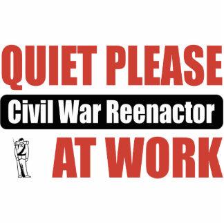 Quiet Please Civil War Reenactor At Work Photo Sculpture Ornament