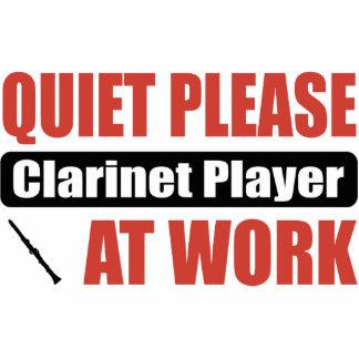 Quiet Please Clarinet Player At Work Photo Sculpture