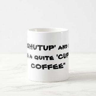 Quiet Please Classic White Coffee Mug