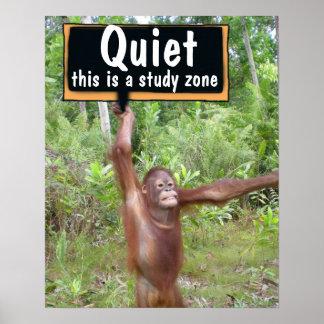 Quiet Please Classroom Poster