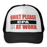 Quiet Please CPA At Work Hats