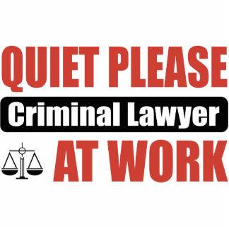 Quiet Please Criminal Lawyer At Work Photo Cutout