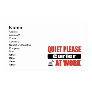 Quiet Please Curler At Work Business Card