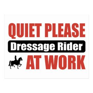 Quiet Please Dressage Rider At Work Postcard