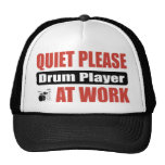 Quiet Please Drum Player At Work Mesh Hats