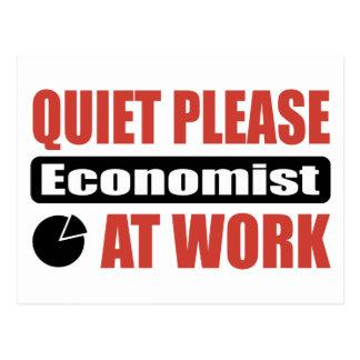 Quiet Please Economist At Work Postcard