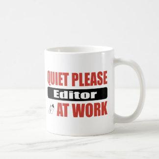 Quiet Please Editor At Work Classic White Coffee Mug