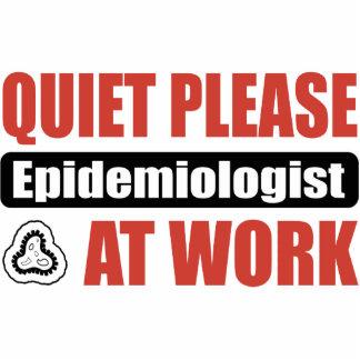 Quiet Please Epidemiologist At Work Photo Sculptures