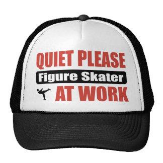 Quiet Please Figure Skater At Work Mesh Hats
