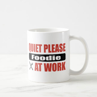 Quiet Please Foodie At Work Classic White Coffee Mug
