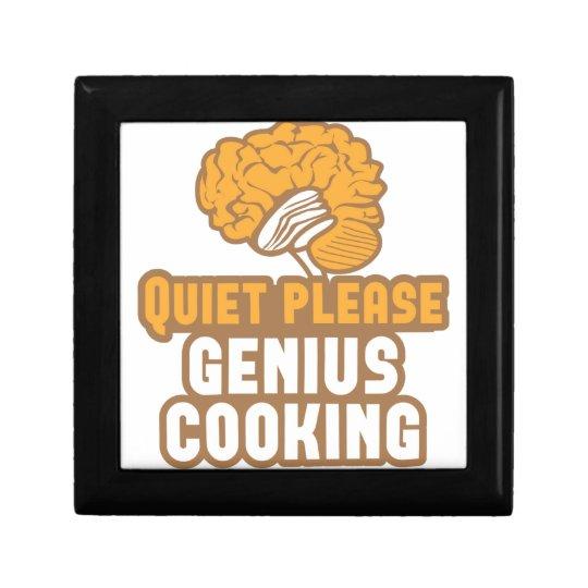 Quiet please Genius COOKING! Keepsake Box