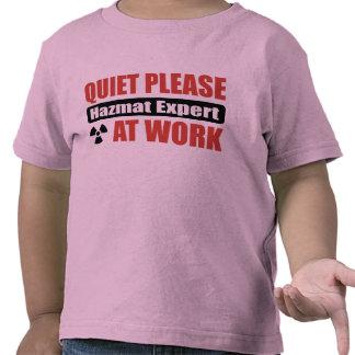 Quiet Please Hazmat Expert At Work T Shirts