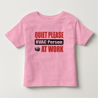 Quiet Please HVAC Person At Work Toddler T-shirt