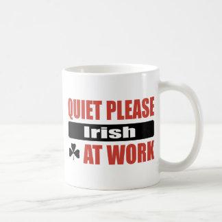 Quiet Please Irish At Work Mugs