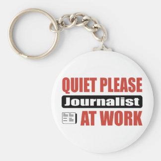 Quiet Please Journalist At Work Keychain