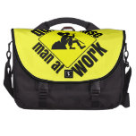Quiet please, man at work bags for laptop