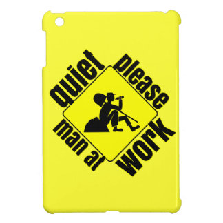 Quiet please, man at work cover for the iPad mini