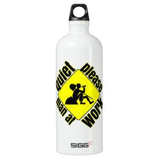 Quiet please, man at work SIGG traveler 1.0L water bottle