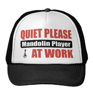 Quiet Please Mandolin Player At Work Mesh Hats