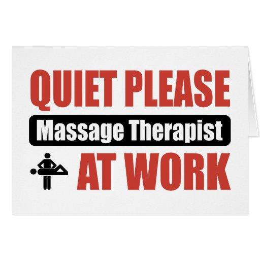 Quiet Please Massage Therapist At Work Card