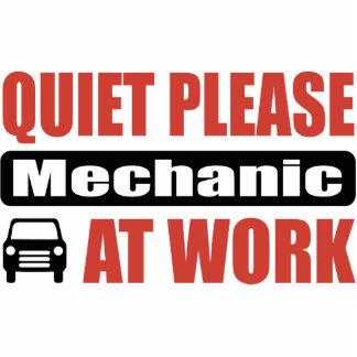 Quiet Please Mechanic At Work Photo Sculpture Ornament