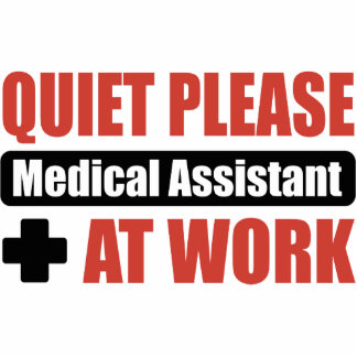 Quiet Please Medical Assistant At Work Statuette