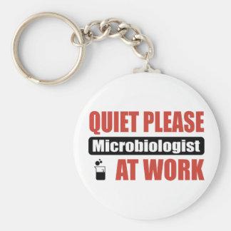 Quiet Please Microbiologist At Work Keychain