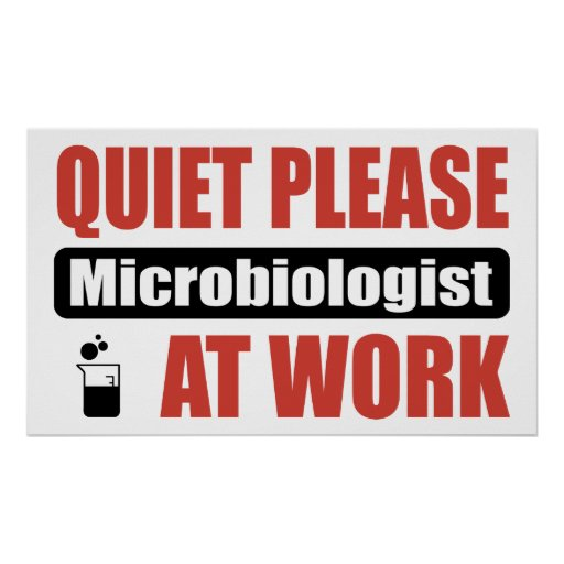 Quiet Please Microbiologist At Work Poster