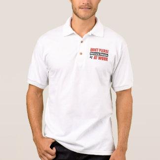 Quiet Please Molecular Biologist At Work Polo Shirt
