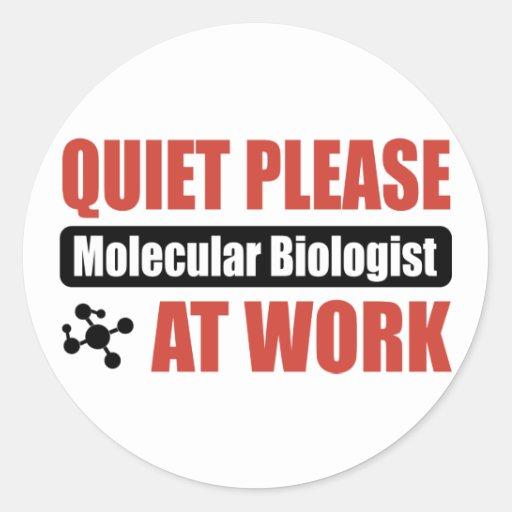 Quiet Please Molecular Biologist At Work Sticker