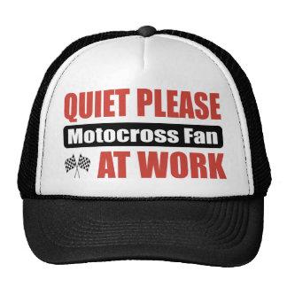 Quiet Please Motocross Fan At Work Trucker Hat