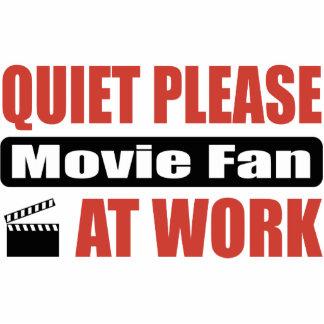 Quiet Please Movie Fan At Work Photo Sculpture