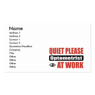 Quiet Please Optometrist At Work Double-Sided Standard Business Cards (Pack Of 100)
