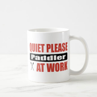Quiet Please Paddler At Work Coffee Mugs