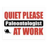 Quiet Please Paleontologist At Work Postcard